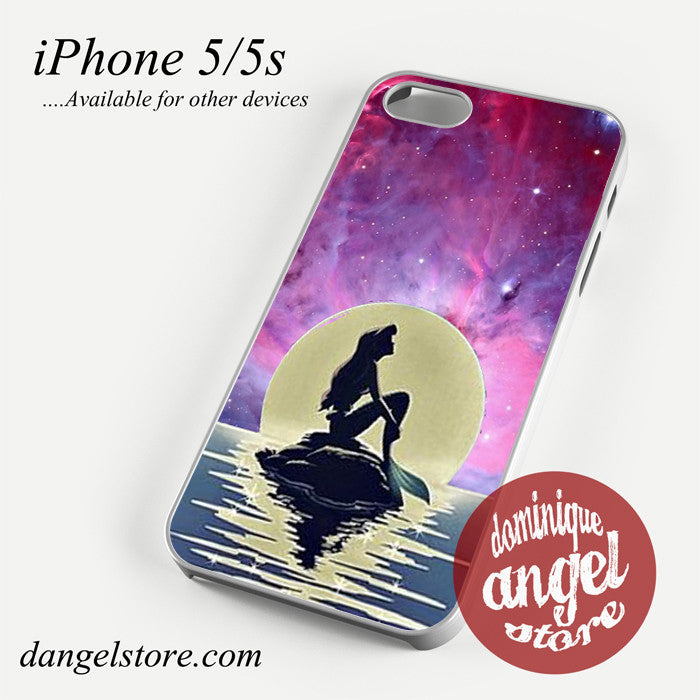 ariel the little mermaid moon Phone case for iPhone 4/4s/5/5c/5s/6/6 plus