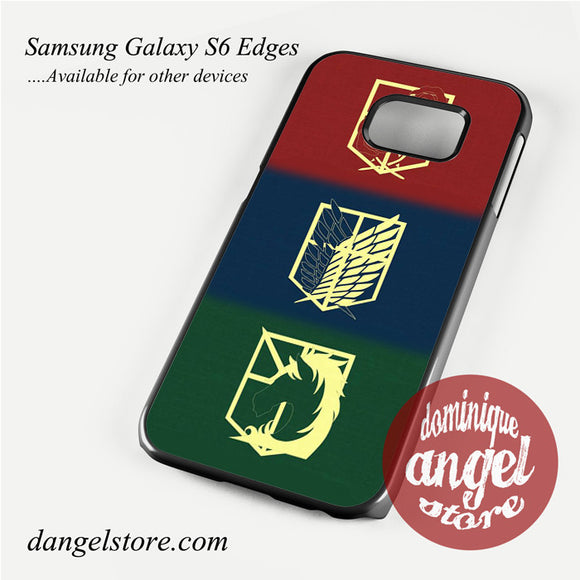 attack on titan logo Phone Case for Samsung Galaxy S3/S4/S5/S6/S6 Edge