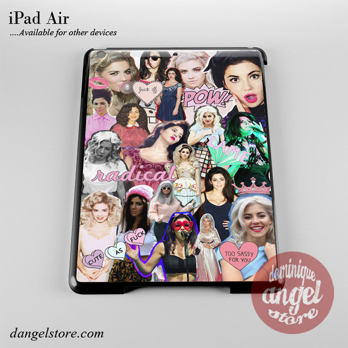 Beautiful Marina And The Diamonds Collage Phone Case for iPad Devices