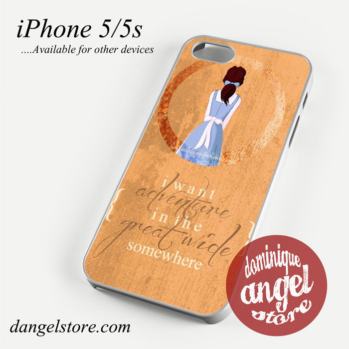 Beauty and the beast belle quotes Phone case for iPhone 4/4s/5/5c/5s/6/6 plus