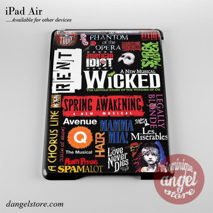 Brodway Musical Collage Phone Case for iPad Devices