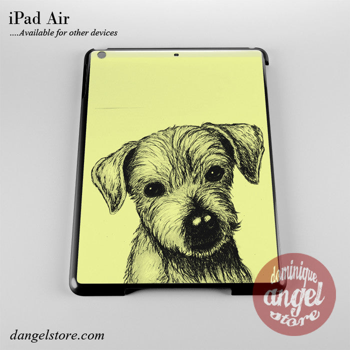 Cute Puppy Sketch Phone Case for iPad Devices