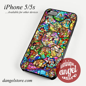 disney characters stained glass Phone case for iPhone 4/4s/5/5c/5s/6/6 plus