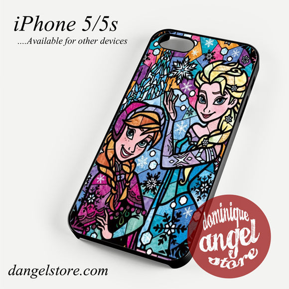 elsa anna stained glass Phone case for iPhone 4/4s/5/5c/5s/6/6 plus
