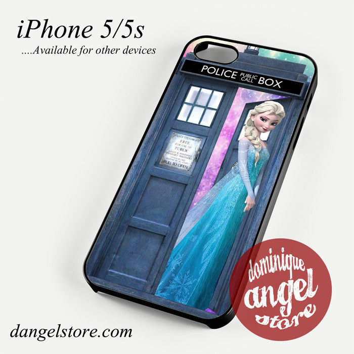 Queen elsa tardis Phone case for iPhone 4/4s/5/5c/5s/6/6 plus