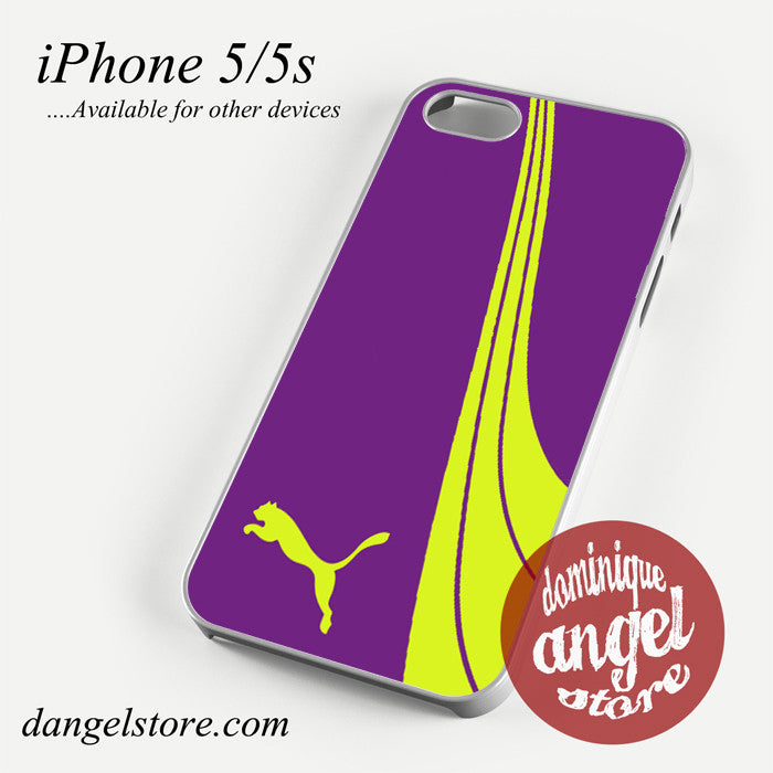 fancy purple yellow puma Phone case for iPhone 4/4s/5/5c/5s/6/6 plus