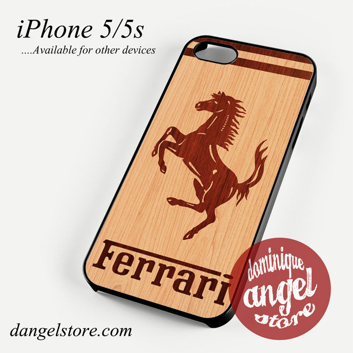 ferrari wood Phone case for iPhone 4/4s/5/5c/5s/6/6 plus