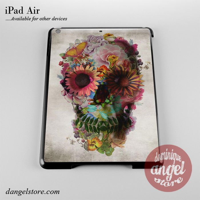 Floral Skull Phone Case for iPad Devices