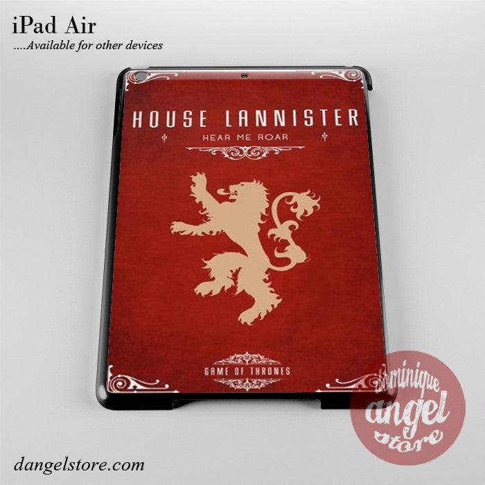 Game Of Thrones House Of Lannister Phone Case for iPad Devices