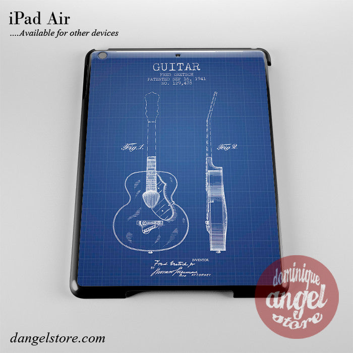 Gretxch Guitar Patent Blueprint Phone Case for iPad Devices