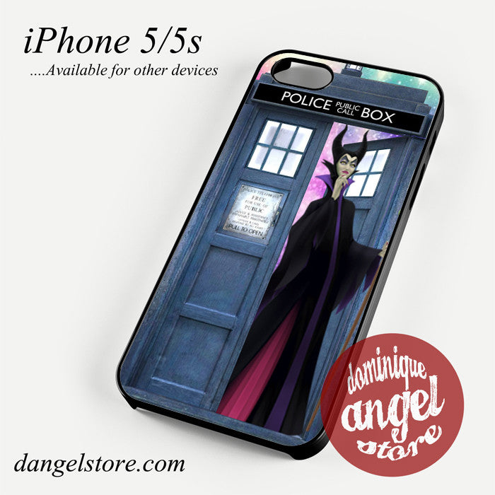 maleficent who tardis Phone case for iPhone 4/4s/5/5c/5s/6/6 plus