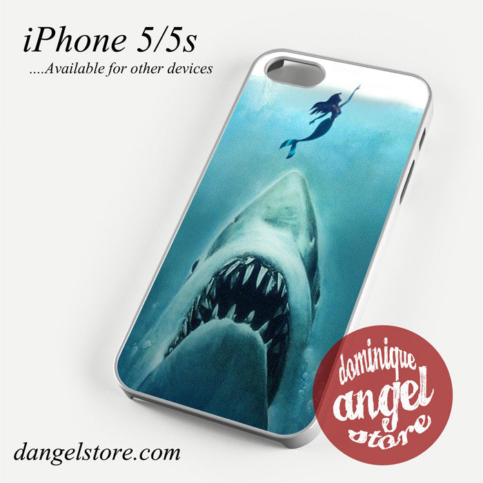 mermaid jaws Phone case for iPhone 4/4s/5/5c/5s/6/6 plus