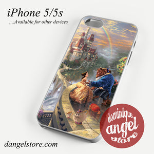 romantic beauty and the beast in their castle Phone case for iPhone 4/4s/5/5c/5s/6/6 plus