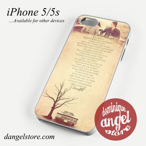supernatural quotes Phone case for iPhone 4/4s/5/5c/5s/6/6 plus