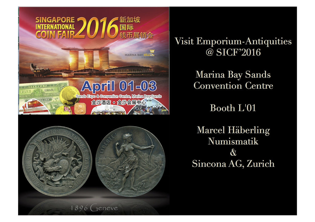 Emporium-Antiquities.com are at the Annual Singapore Coin Fair 2016!