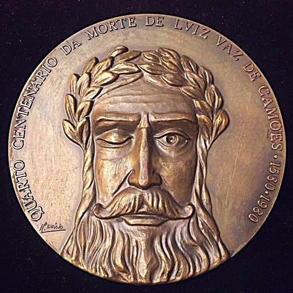 1580-1980 Portugal Adamastor Mythological Character of Os Lusíadas, 400th Anniversary of Luiz de Camoes, Massive Bronze Medal.