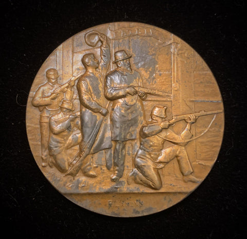 "1898 Old Suisse Confederacy Neuchatel Schützenfest Shooting Bronze Medal ""50th Year Anniversary of Neuchatel's Independence"", 45 mm Mintage < 750."