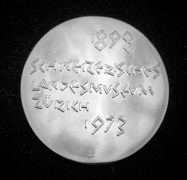 "1973 Switzerland ""Swiss National Museum Zurich"" Hans Erni Silver Medal"
