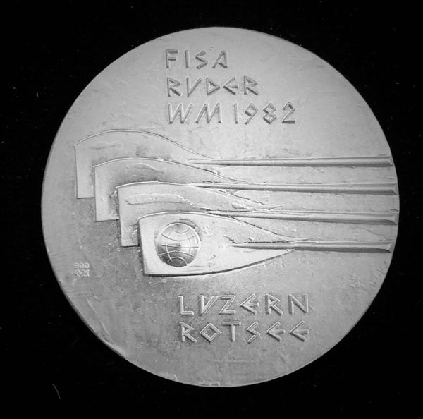 "1982 Switzerland ""World Rowing Championships Rotsee Lucerne"" Hans Erni Silver Medal."