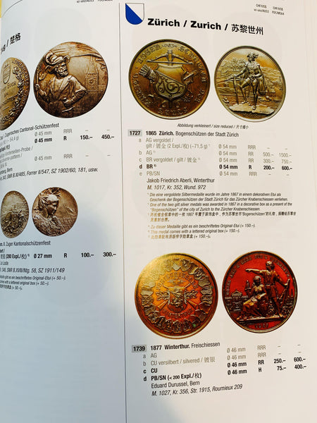 "2020 Switzerland ""The Guide to collect Swiss shooting medals"" Reference Book. - Emporium Antiquities"