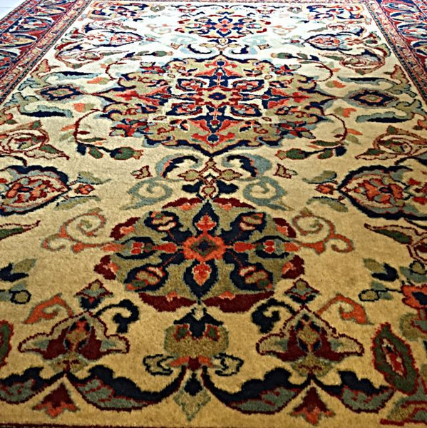 1960's Antique Russian Nomadic Carpet, Beautiful Showpiece, Hand-weaved Rich Dyes Tribal Piece. - Emporium Antiquities