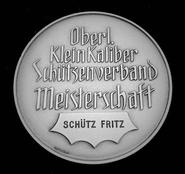"{Sold} circa. 1960's Suisse Confederacy Bernese Highlands Schutzenfest Shooting Bronze-Silvered Medal ""Eagle-sight Sharpshooter"", 50 mm Mintage < 150."