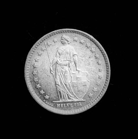 "{Sold} 1962-B Switzerland Confederacy ""Lady Helvetia"" 1/2-Franc Silver Minor Coin, Great Condition Sharp Details! 18.2 mm."