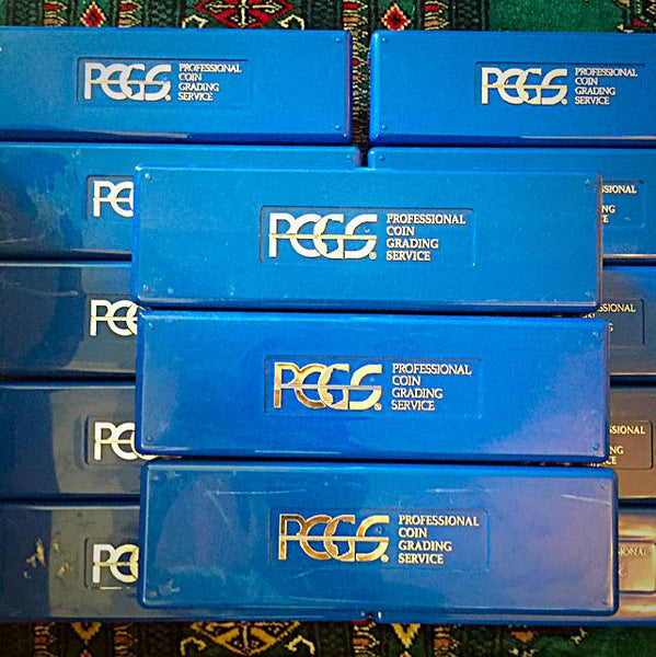 PCGS Blue Storage Boxes From USA PCGS, x40 Saflips or x20 Slabs - Coin Storage Accessories - Emporium Antiquities