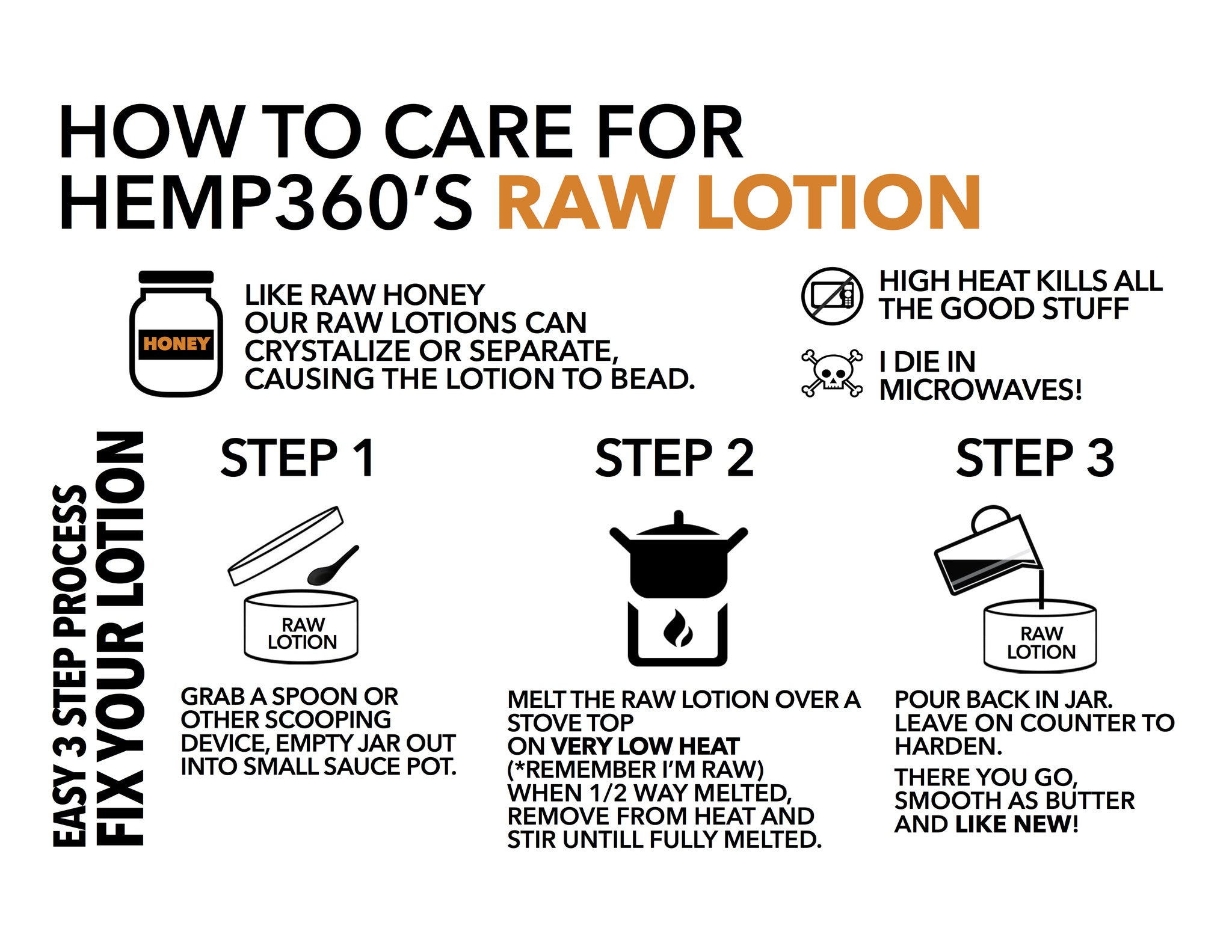 Hemp Extract Skin Repair Raw Lotion - HEMP360