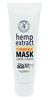 White Mask Tube with Text on the label that reads 'Hemp Extract Turmeric Mask Lemon + Ginger 500mg CBD Broad Spectrum