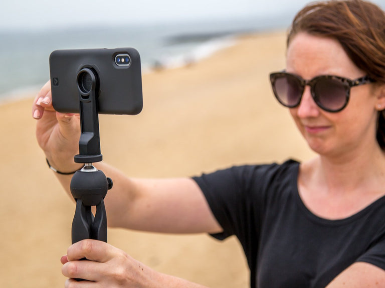 take steady iPhone photography with the Quad Lock tripod adaptor