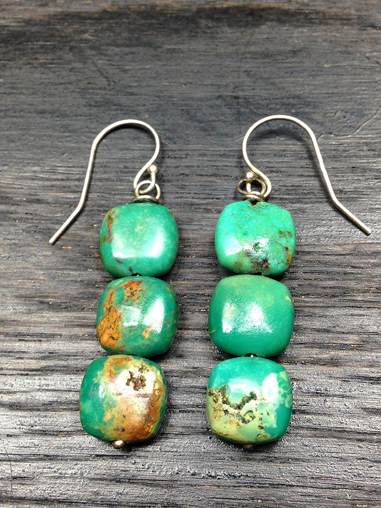 Trio Turquoise Sterling Silver Earrings
