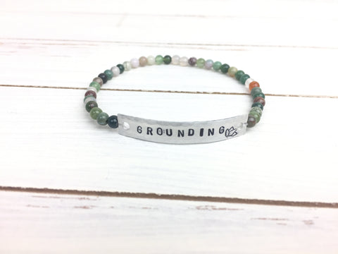 Indian Agate GROUNDING Stretchy Bracelet