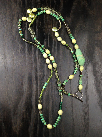 OOAK Multi Gemstone Extra Long Necklace