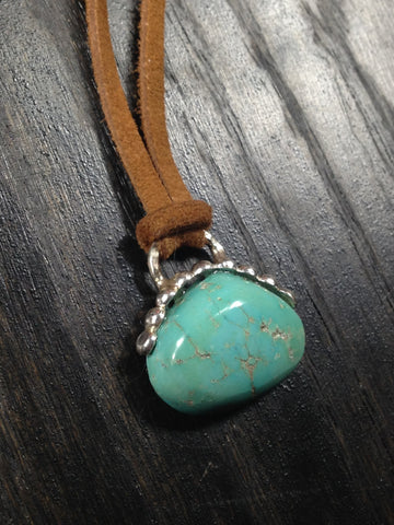 OOAK Turquoise and Sterling Silver Necklace