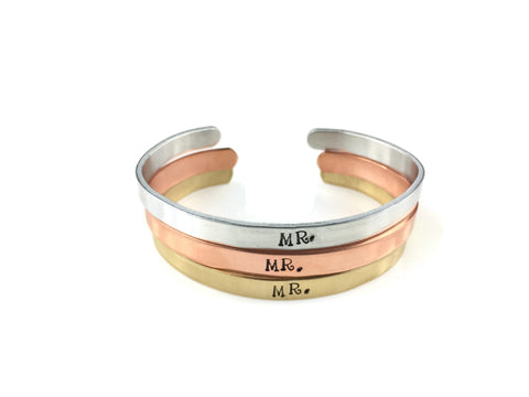 Mr. Cuff Bracelet (4 Metal Choices!)