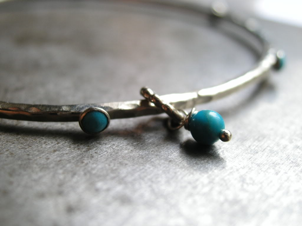 Protecting Turquoise and Sterling Silver Bangle