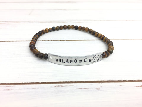 Tigers Eye WILLPOWER Stretchy Bracelet