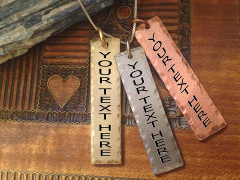 Buy 2 Get 1 FREE Personalized Metal Charms (3 Metal Choices!!!)