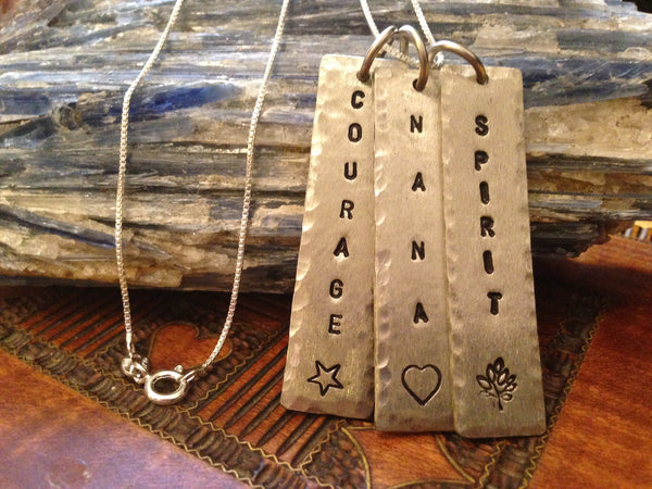 Hand Stamped Courage Charm... You Can Personalize it TOO!!!