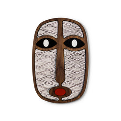 wood with fabric wall decor masks - Umasqu