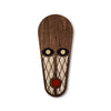 wood with fabric african wall mask - Umasqu