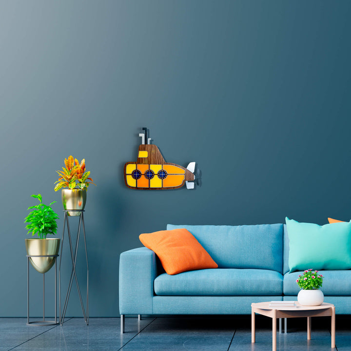 Yellow submarine wall decor - Umasqu