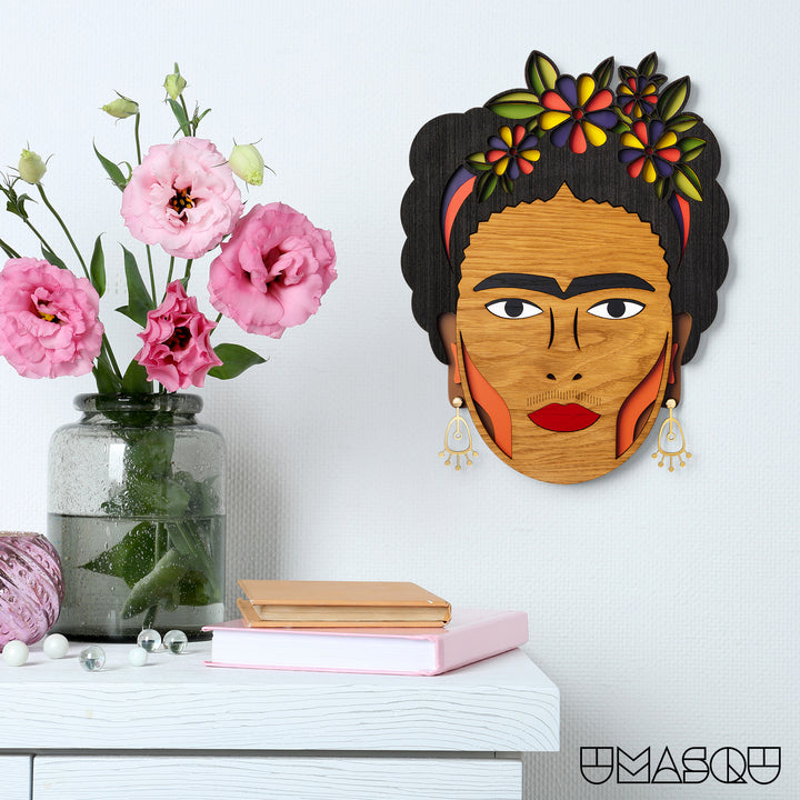 Frida Kahlo wood wall decor - Umasqu