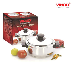 VINOD STAINLESS STEEL 2000ML BELLY CASS