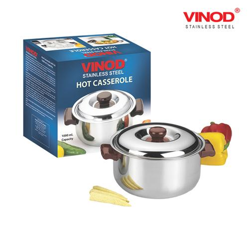 VINOD STAINLESS STEEL CASSEROLE 5000ML