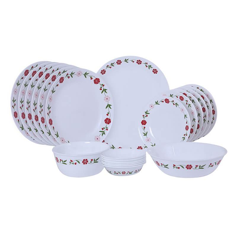 CORELLE SPRING PINK 21PCS DINNER SET