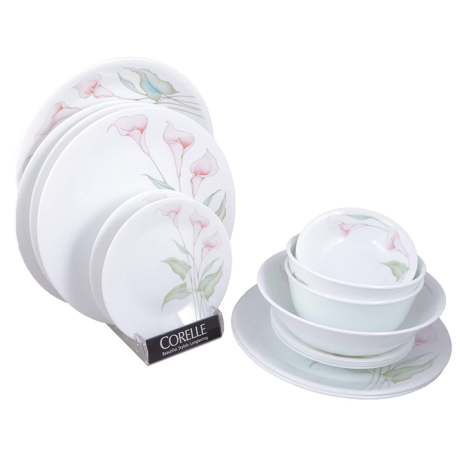 CORELLE LILLY VILLI SQ DINNER SET