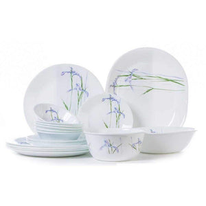 CORELLE SHADOW IRIS 21PCS RD DINNER SET