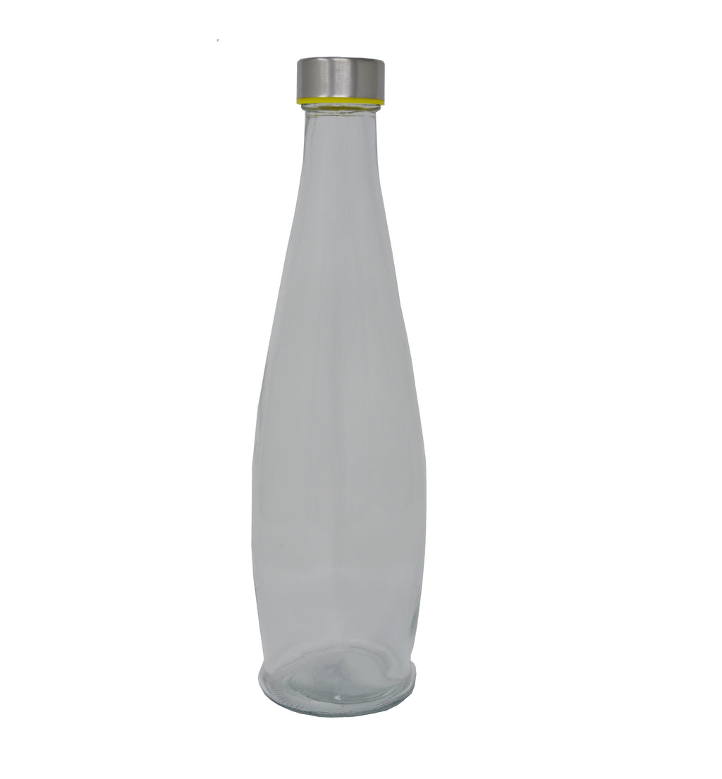 PJ V3124 GLASS WATER BOTTLE CURVEY 1000ML